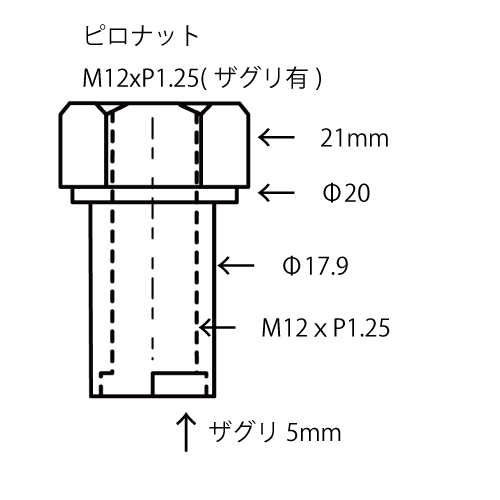Camber Plate Nuts M12