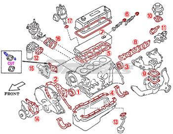 datsun 1200 a14 a15 engine repair gasket 17pcs kit for c120 b210 rh ebay com 2010 Nissan Maxima Owner's Manual Nissan Manual Transmission Diagram